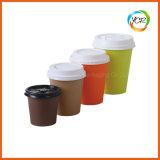 Tazza di carta bevente del caffè a gettare freddo caldo doppio 4-16oz