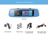 4G espelho de opinião traseira remoto do monitor do carro DVR Adas com DVR e a lente dupla Android 1080P WiFi Dashcam da câmera
