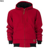 Winter Sports Hooded Quilt Lined Twill Soft Shell Men ' s Clothes Jacket