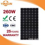 el panel solar 260W con la aprobación de la ISO para las aplicaciones comerciales