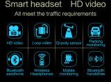 S90 câmera 1080P da came do traço do carro DVR com auriculares de Bluetooth
