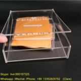Rectángulos de acrílico claros de encargo de Artbox con la tapa