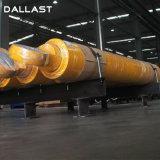 Único cilindro hidráulico personalizado de atuação para a maquinaria da engenharia