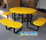 Открытый круглый стол металла, садовая мебель порошковое пикник в таблице