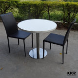 Kingkonree Noir pur Solid Surface manger Table carrée