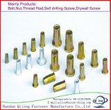 Nichtstandardisiertes Metall befestigt flachen Hauptkeil-Karosserien-Vorhang-Mutteren-Nieteneinschläger-Vorhang-Niet/stumpfen Niet-/Aluminiumniet