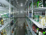 Supermarkt Glass Door Walk im Freezer Raum