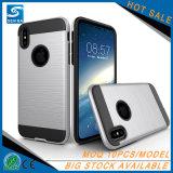 多項選択のiPhone 8/Xのための意味深長な耐震性の二重層の携帯電話の箱