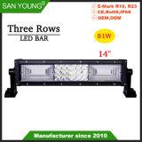 Triple barre lumineuse à LED de lignes Offroad Offroad Barre de feux de conduite 4X4 LED Bar
