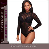 Commerce de gros d'usine Sexy femmes Bodysuits Backless à manchon long (TONY0735)