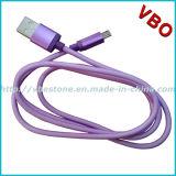 Cable plano del USB del micr3ofono del metal de gama alta para el teléfono móvil (CS-080)