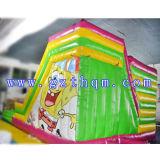 Populäre aufblasbare Prahler/passen aufblasbares Schloss mit Karikatur-Drucken, Fabrik-Preis-aufblasbare springende Schlösser an