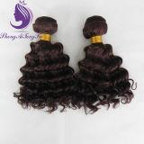 焦茶深く波状の人間のRemyの毛の織り方