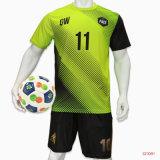 100%Polyester SUBLIMATION Maillot de football personnalisés uniforme (Soccer) uniforme