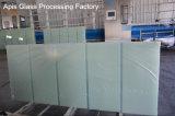 de Deur van het Glas Frameless van 10mm berijpte het Ondoorzichtige Aangemaakte Gehard glas van /Bathroom met het Knipsel van de Inkeping/Groef/Groef/BoorGaten