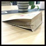 Zak van het Pakket van het Voedsel van het Document van kraftpapier de Plastic met Embleem