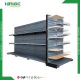 Scaffalatura della visualizzazione di legno e dell'acciaio della vendita al dettaglio