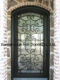 Qualitäts-Stahlsicherheits-Tür-ausgeglichenes Glas-Haupteisen-Tür