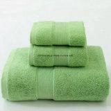 Het Verven van Whitel van het Garen van 100% de Katoen Gekamde Duidelijke, Reactieve Reeks van de Handdoek van het Hotel, 3 Geplaatste Handdoeken