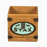 """Caixa de Registro Retro Vinil 7"""" única colheita Engradado de madeira Registros Stax R&B Alma 60s"""