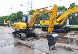 Sinomach 0,22 m3 d'équipements machinerie de construction de génie 6 tonnes mini-excavatrice chenillée hydraulique