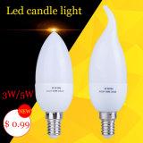 3W velas LED de 5 W por lâmpada LED de iluminação Chanderlier em destaque