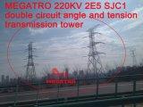 Doppia torretta della trasmissione di angolo e di tensionamento di circuito di Megatro 220kv 2e5 Sjc1