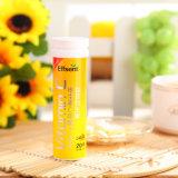 Comprimés à croquer oranges de la vitamine C 1200mg de saveur de nourritures biologiques
