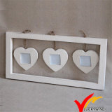 Francés de madera hechos a mano Heart-Shaped Funny Photo Frame