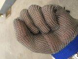 Нержавеющей стали ячеистой сети отрезока высокого качества перчатка безопасности анти- работая