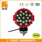 indicatore luminoso rotondo indicatore luminoso rosso/nero di Epistar del lavoro di 7inch 51W LED di 12V 24V LED dell'automobile
