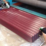 Color RAL PPGI Hoja de acero corrugado