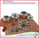 Écrou de blocage en nylon galvanisé DIN985 de la garantie M12 galvanisée de la classe 8