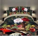 Diseño de lujo 70GSM 110 gramos de hoja de cama Ropa de cama de 3D