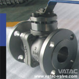 고급장교, Cast Iron 또는 Forged Stainless Steel Electric & Thread/Screw NPT 또는 Bsp Ends를 가진 Pneumatic Industrial Floating Ball Valve