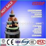 Cavo elettrico isolato XLPE di rame centrale del conduttore di tensione 11kv