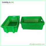 Embalagem de frutos de plástico ventilado empilháveis caixas de vegetais para vendas