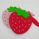 Sy03-05-003 Housse en silicone souple de Mignon fraise Fashion Wallet