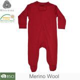 Haute qualité de la laine mérinos vêtements de bébé Baby Onesie