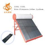 100L Compact Non pression chauffe-eau solaire tube à vide