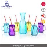 7PCS duidelijke het Drinken van het Sap van het Glas Reeks met Stro