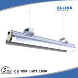 40W 60W 130lm/W que cuelga la luz colgante ligera del tubo de los dispositivos LED