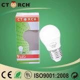 De LEIDENE van Ctorch Hoge Efficiency van de Bol G45 3W met Ce/RoHS- Certificaat