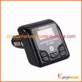 Bluetooth車のハンズフリーキットはギャラクシーS4のために日曜日バイザーFMの送信機に接続できる