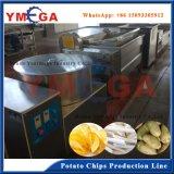 O aço inoxidável fêz a linha de produção congelada Semi automática das microplaquetas de batata