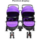 Baby-DoppelSpaziergänger mit Doppelsitz