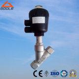 Edelstahl-Karosserie/pneumatischer Stellzylinder-/Winkel-Sitzplastikventil (GAYASV)