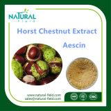 Выдержка порошка каштана лошади 100% естественная, Aescin 20%, HPLC 40%