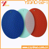 Tapis de caisse de silicone sans glissement coloré avec coaster Customed (YB-HR-14)