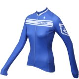 Dame-/langes Hülsen-Hemdkomprimierendes Jerseys-Himmel-Blau-weiches Gewebe der Frauen mit Taschen